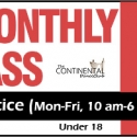 Monthly Practice Pass (Mondays to Thursdays ONLY 10 am-6 pm - Under 18