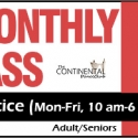 Monthly Practice Pass (Monday to Thursday ONLY 10 am-6 pm) - Adult/Seniors