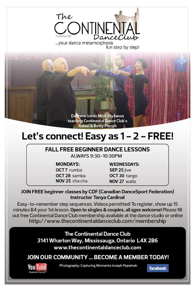 CONTINENTAL DANCE CLUB Let's Connect! It's as easy as 1 -2 -FREE! OctSNAPsouth MISSAD