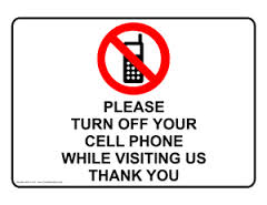 CELL PHONES OFF PLEASE