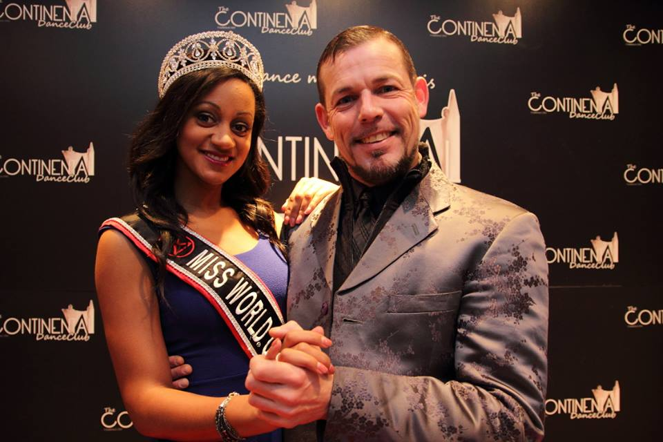 Camill Munro Miss World Canada 2013 at The Continental dance Club with Brian Torner dance director