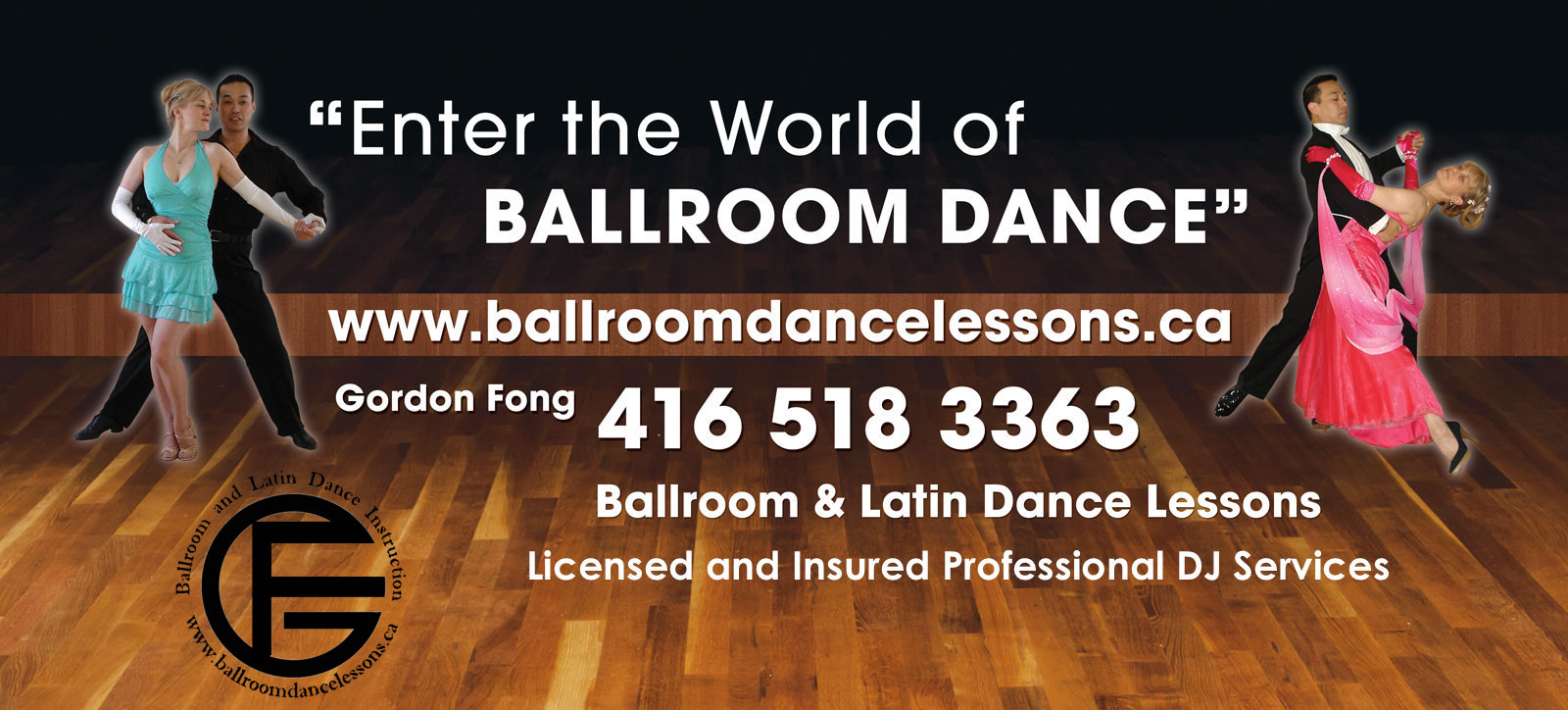 Gordon Fong Friday Group Lessons 8-9pm and Dance Practices 9-11pm