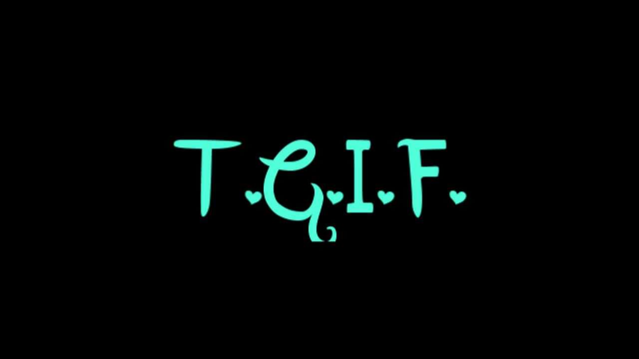 T G I L F …. thank God , it's LAST FRIDAYs …first message by SPECIAL GUEST ARTIST Mr Denis TREMBLAY: