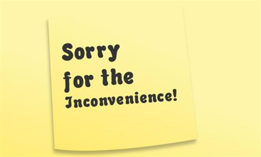 OUR APOLOGIES…. the air conditioning system requires service… WE'RE ON IT!